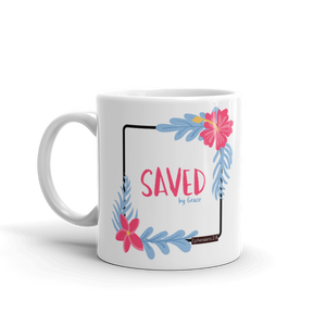 """Saved by Grace"" - Christian Coffee Mug"