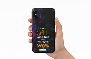 """I will call upon God"" Christian Phone Back case"