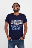 Navy Blue 'Soldier in the Army of GOD' unisex christian t-shirt