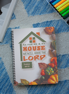 """As for Me and My house We will serve the Lord"" Premium Wiro Bound Christian Notebook (A5)"