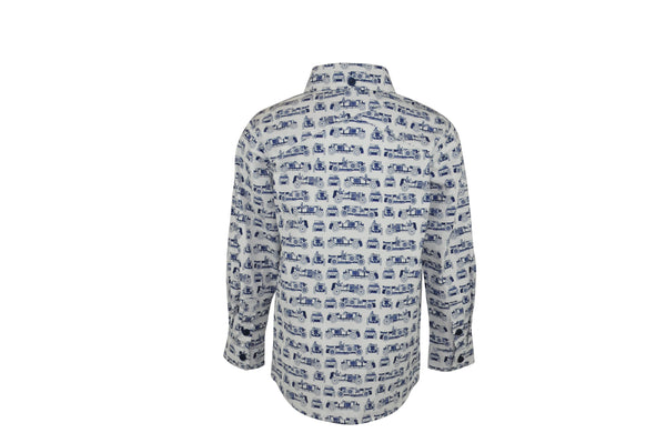 Lewis : Unique print white shirt