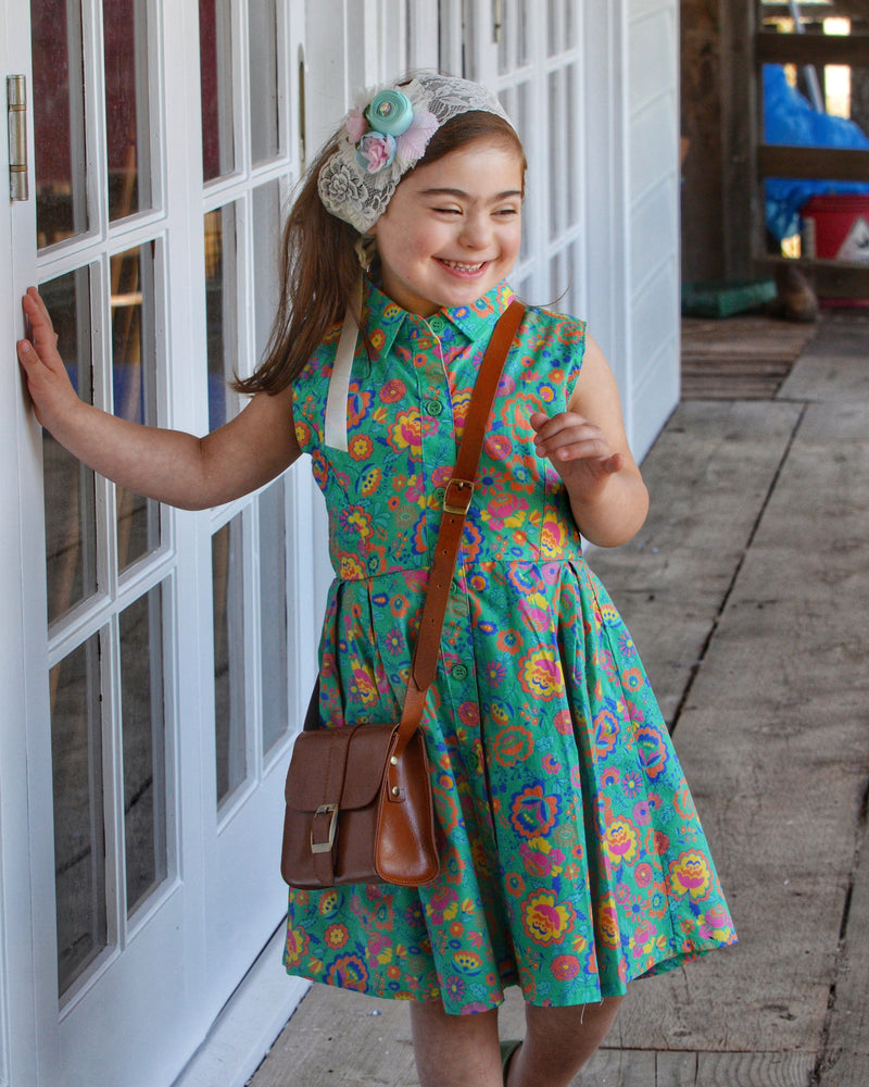 Darcy: Bright floral dress