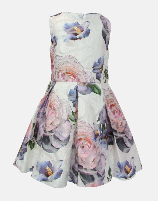 Aria: Floral Jacquard Dress