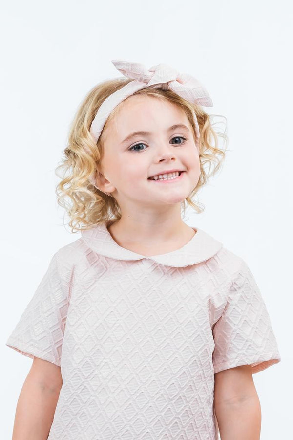 Sophie: Blush brocade headband