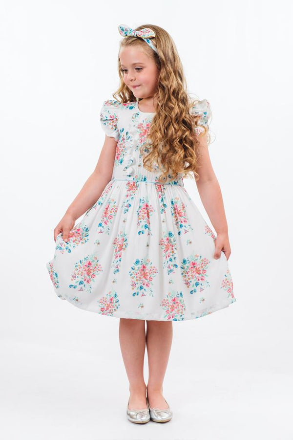 Neave: Floral dress & headband