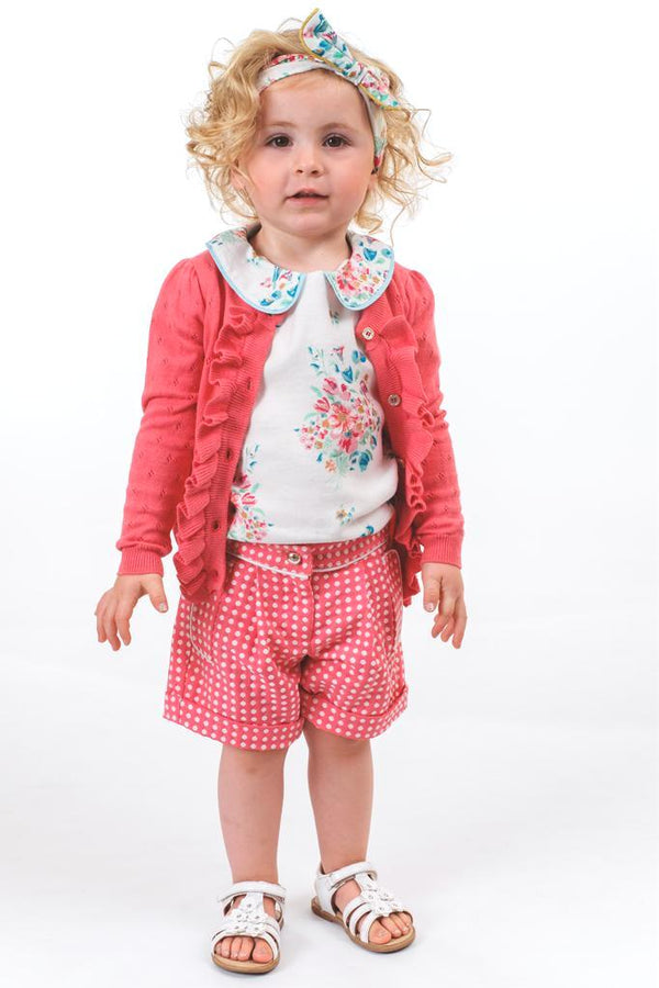 Grace: Fuchsia spot shorts
