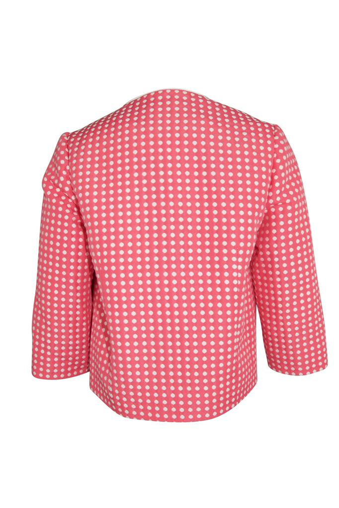 Grace: Fuchsia spot jacket