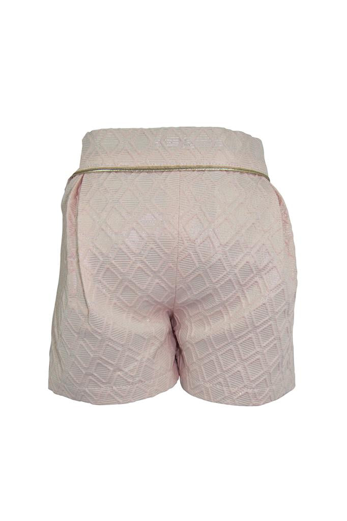 Sophie: Blush brocade shorts