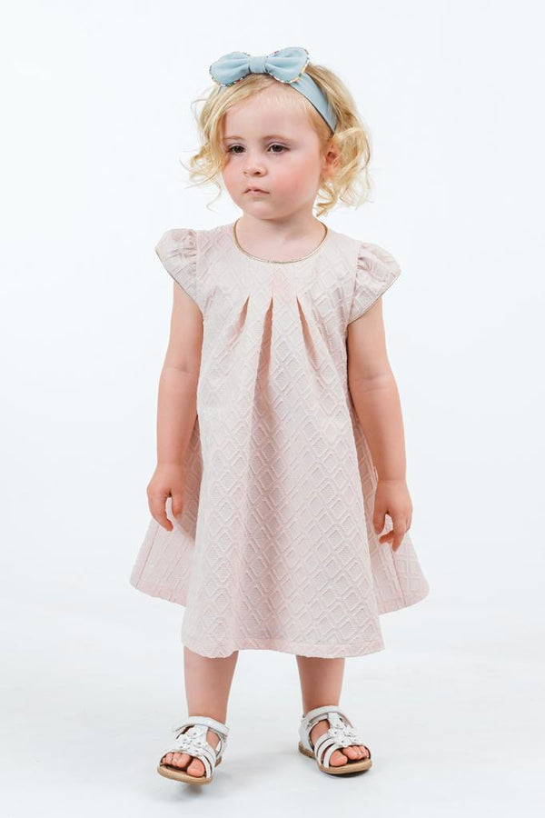 Sophie: Blush brocade A-line dress