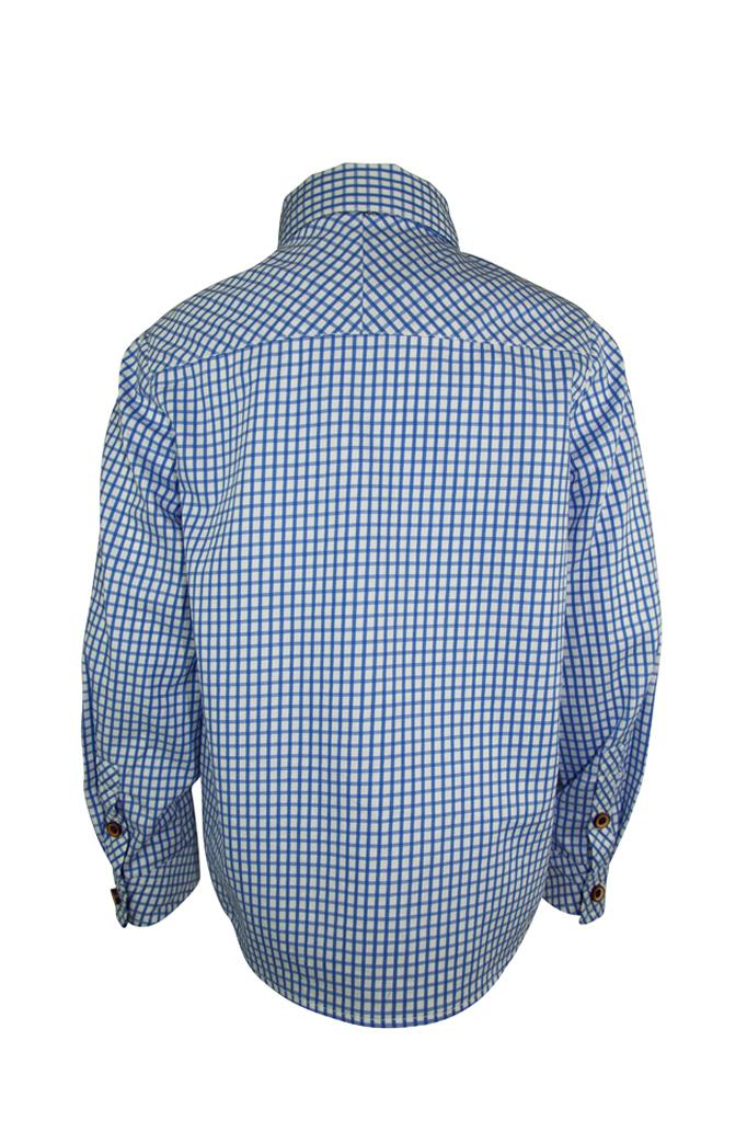Otto: Sky blue check shirt & bowtie