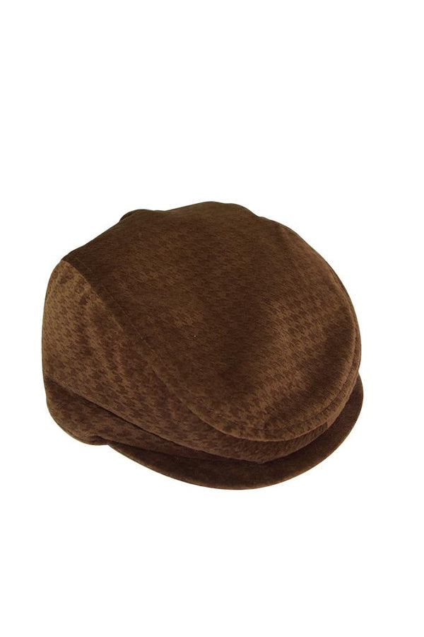 brown tan textured velvet boys flat cap flatcap peaky blinders hat lined luxury wedding church holiday smart suit