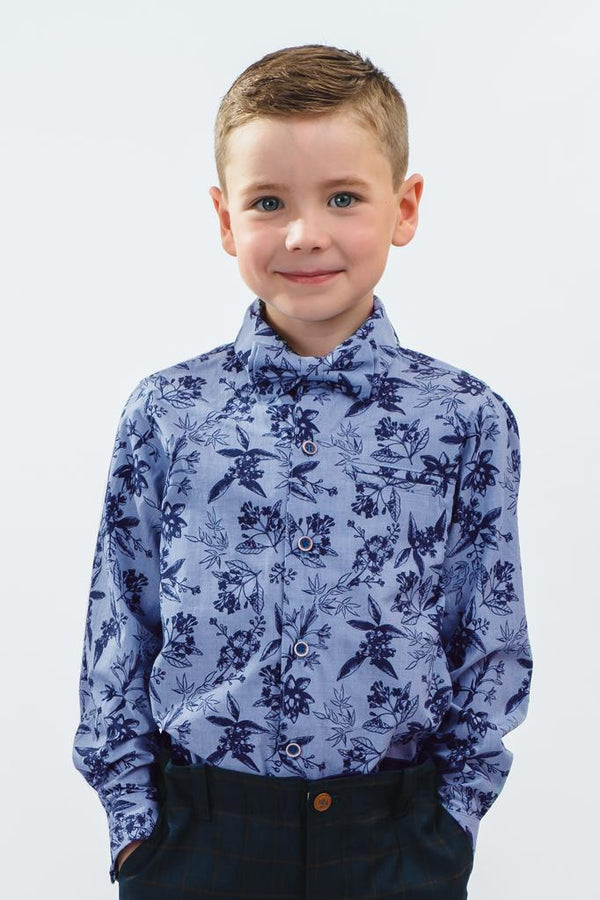 Henry: Floral long sleeve shirt