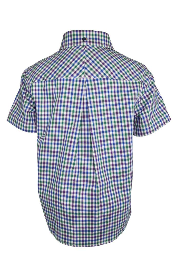 Grayson: Green gingham shirt