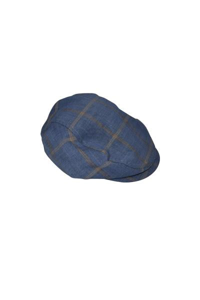 boys cap flatcap hat blue grey check suit three piece pocket smart dapper vintage unique