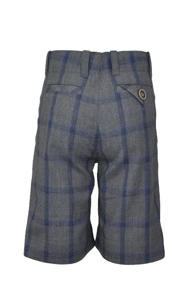 Laurence: Grey check shorts