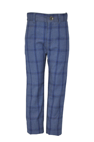 Lowry: Blue check trousers