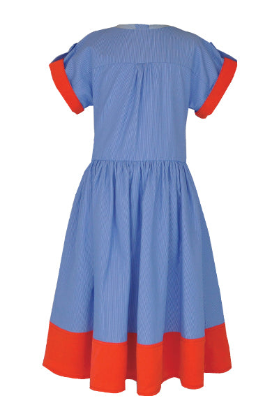 Lucinda: Blue stripe dress