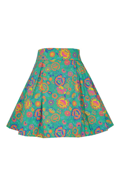 Darcy: Bright floral skirt