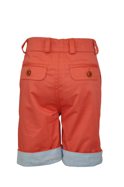Harlech: Orange coral shorts