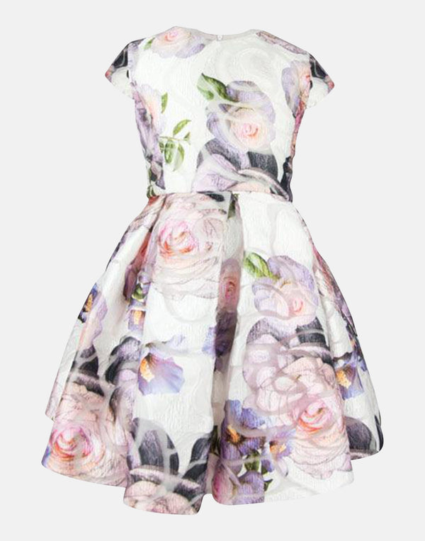 Aria:Floral Jacquard Dress