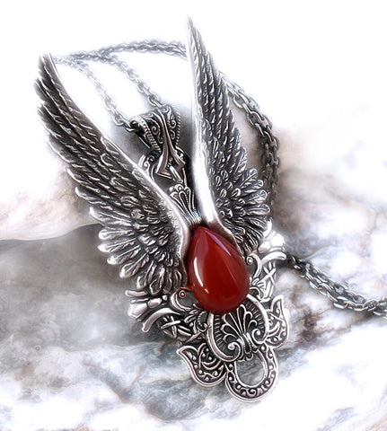 Dark Angel Wings Necklace