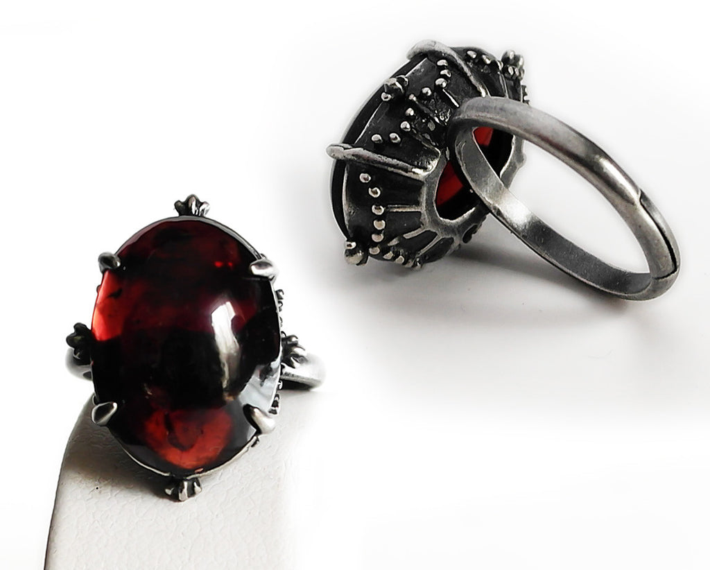 Garnet Ring - Aranwen's Jewelry  - 1