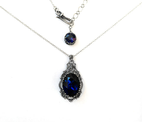 Dark Indigo Jewelry Set - Aranwen's Jewelry  - 3