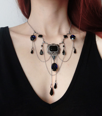 Black and Purple Gothic Necklace