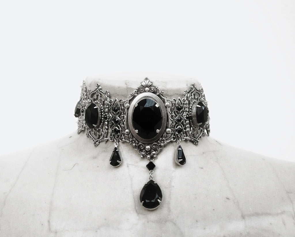 Silver Medieval Gothic Choker