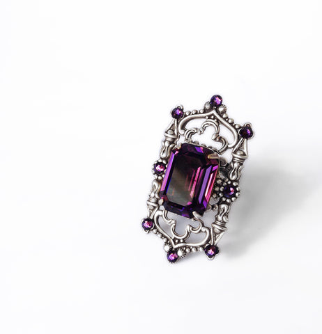 Gothic Cathedral Ring - Aranwen's Jewelry  - 6
