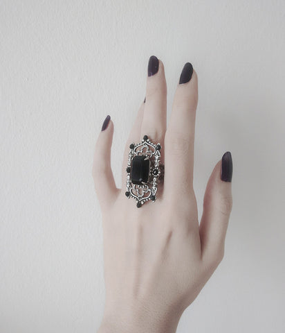 Gothic Cathedral Ring - Aranwen's Jewelry  - 2