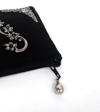 Black Felt Wallet - Aranwen's Jewelry  - 2