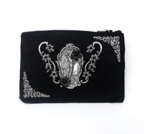 Black Felt Wallet - Aranwen's Jewelry  - 1