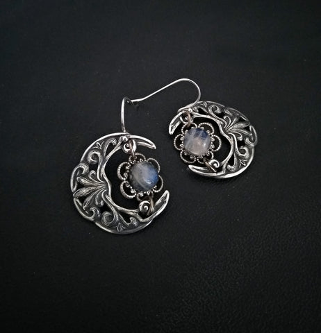 Celestial Moonstone Earrings