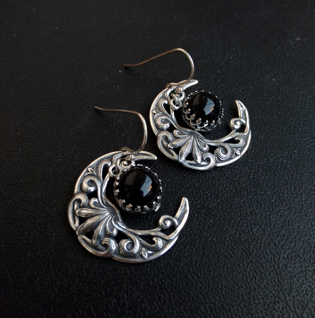 Celestial Onyx Earrings