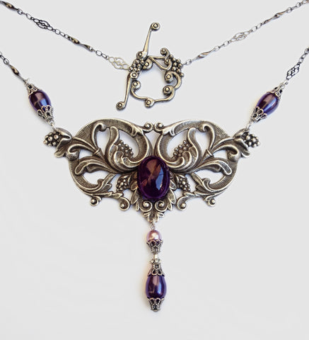 Amethyst Grapes Necklace