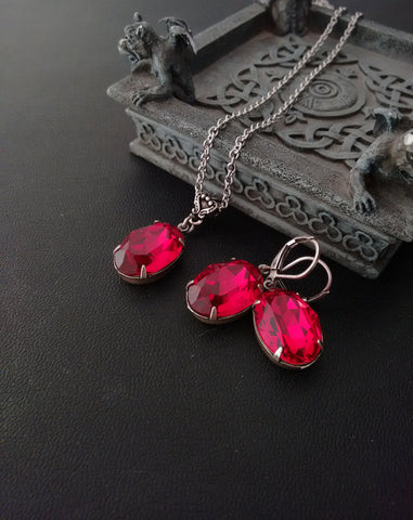 Ruby Swarovski Set