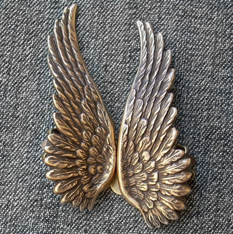 Brass Angel Wing Earrings - Aranwen's Jewelry  - 2