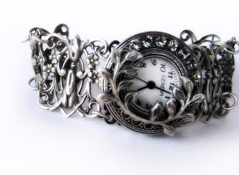 Victorian filigree wrist watch