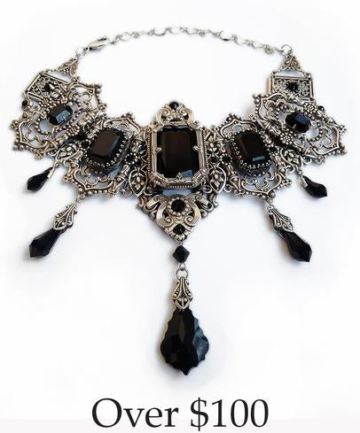 Gothic Winged Necklace