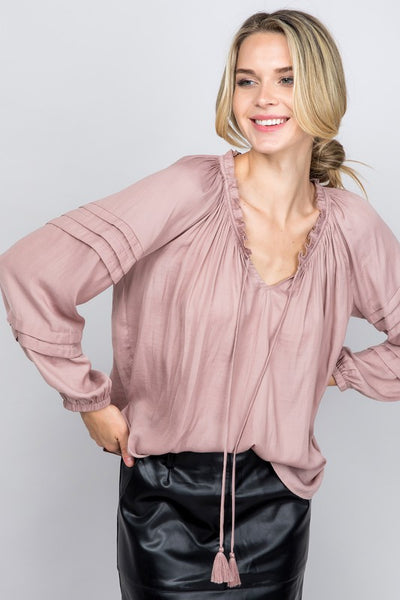 Wrinkle in Time Silky Blouse