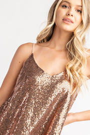 Fa-la-la V-Neck Sequin Top