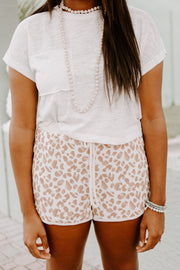 Leopard Cozy Track Shorts