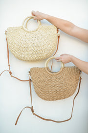 Sandy Straw Tote
