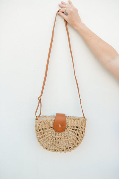 Rio Raffia Crossbody Purse