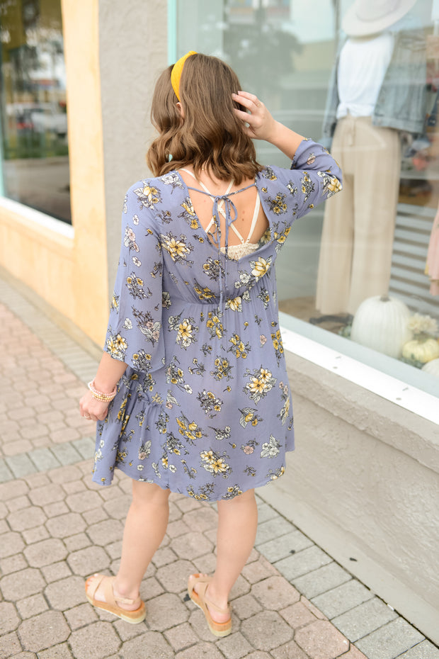 Garden of Purple Swing Dress