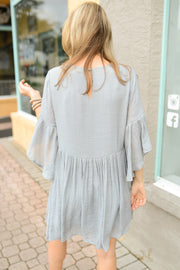 Cornucopia Bell Sleeve Dress