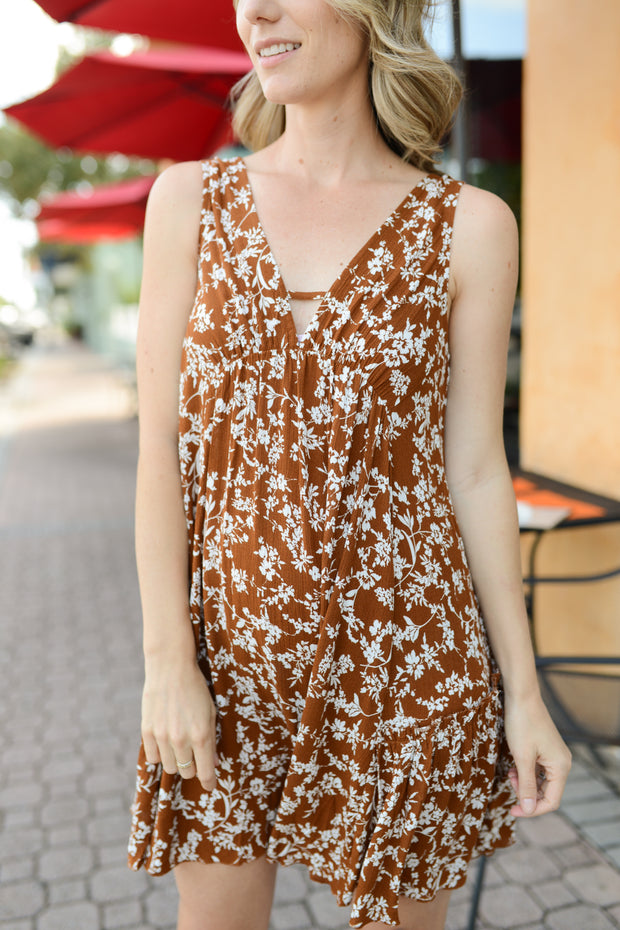 Cinnamon Celeste Swing Dress