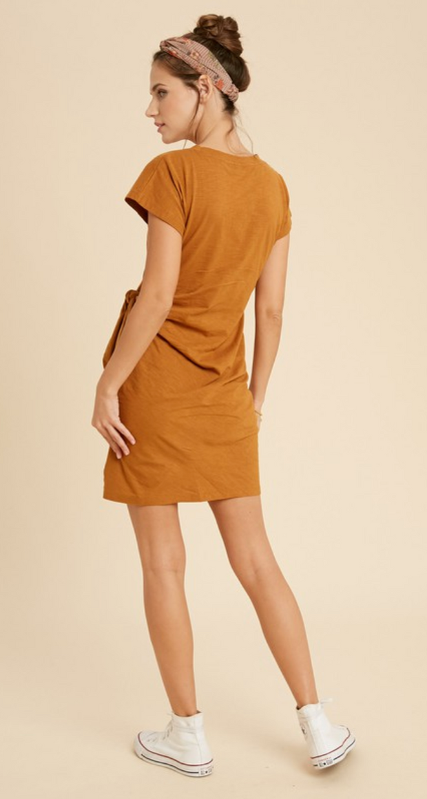 Simple Style Tied Dress