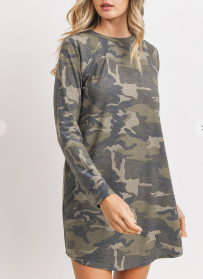 Down to Earth Camo Dress